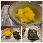 蕎麦おざき - ◆生カラスミ(600円)・・先日他店で頂いた品よりは量が少な目。でもこの味わい、好きです。^^
