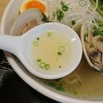 麺屋海神 - スープ