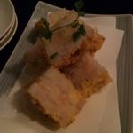 62336933 - 蓮根のはさみ揚げ(海老)ざくざくぷりぷり楽しい食感で美味しく頂けました。