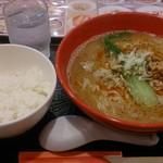 中国麺家 - 担々麺800円とライス100円
