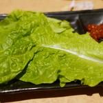 錦へんこつ - ちしゃ菜のサービス