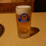 錦へんこつ - 生ビール(380円)
