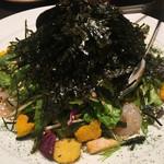 菜々 土古里 - 海苔のりサラダ ¥880(税抜) 2017/02/07(火)19:00頃来訪