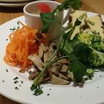 イルリトローボ - 前菜5種のアップ。