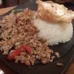 タイ屋台料理&ヌードル オシャ - ・ガパオライス 950円(税別)