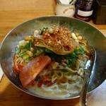 中華そば de 小松 - 提供最終日食べた汁なし坦々麺