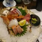 丸十寿司 - 刺身盛合せ