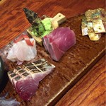 男厨 - 活きイカと旬魚の5種盛