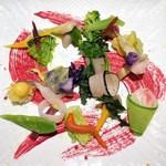 """いとう - 料理写真:京都地野菜の一皿""""土の中""""ビーツのエッセンス"""
