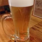 あだん - 生ビール(スーパードライ)