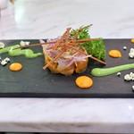 マチュリテ - 本日の魚のマリネとラタトゥイユの冷製 パプリカとグリーンピースのクーリー