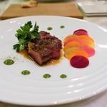 マチュリテ - ブランド牛のポワレ 季節の野菜  長崎県 黒毛和牛サーロインのポワレ