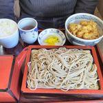 麺房 八角 - 料理写真:小エビの天丼とざるそば