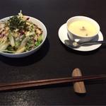 モデスティ - サラダと小鉢(茶碗蒸し)