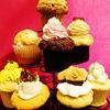 Kafeandosuitsueden - 料理写真:見た目も可愛いカップケーキ。手作りで優しい素材でできています。