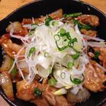 腹黒屋 - 鶏はらみの味噌鉄板焼き