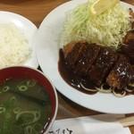 62372954 - ロースかつ、クリームコロッケ(2ケ)(¥1150)