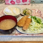 居酒屋みつぐ - 料理写真:ホッケフライ定食、500円です。