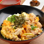 地鶏の親子丼(鳥スープ付)