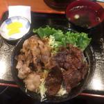 和牛焼肉丼のいち - コンビ丼 ¥620-(2016.2.8)