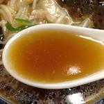 天弘 - 「豆芽麺(モヤシそば)」730円(スープ)
