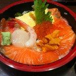 海鮮山鮮 武蔵 万風 - 北海丼