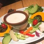 N_7110 - 契約農家の新鮮野菜のバーニャカウダ