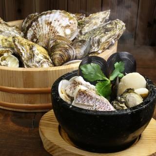 暖丸名物「魚貝の石焼」