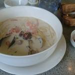 62383013 - 魚介と明太子のスープスパゲティ