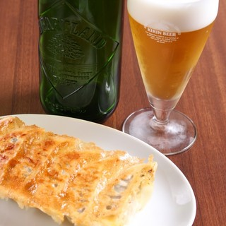 餃子と相性抜群!ハートランドビールをご提供!