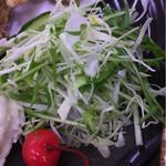本格うどん 大将 - 生野菜サラダです