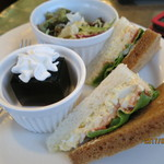 62389523 - モーニング‥サンドイッチ/コーヒーゼリー/サラダ