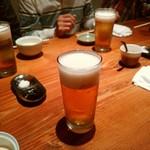 座房 - まずは生ビールでカンパ~イ!
