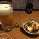 魚と酒 はなたれ - 通しの揚げ出し豆腐