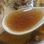 麺処あずき - 鶏ガラスープ
