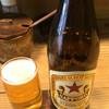 つるや - ドリンク写真:瓶ビール(赤星) 600円