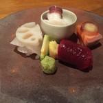 四季 粋花亭 - 鯨、平目、蛸、鮭