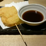 鶏治 - 玉ねぎの串揚げ