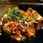京ちゃばな - (2017/1月)トマトお好み焼き 豚肉&チーズ