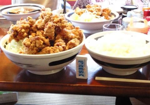 二代目蝦夷 - 2010/8 からあげ定食トリプル大盛¥2150+!?