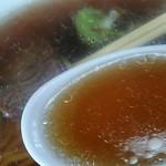 ヤマキ馬肉ラーメン - スープの感じ