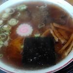 ヤマキ馬肉ラーメン - 馬肉醤油ラーメン550円