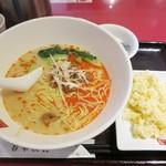 春華秋実 - ・「担々麺と半チャーハンセット(\980)」