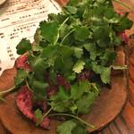 肉ビストロ モニ - 蝦夷鹿のカルパッチョ