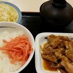 松屋 - 復刻豚バラ生姜焼きラージ定食740円
