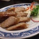 台湾佐記麺線&台湾バル888 - ・自家製台湾ソーセージ(香腸) 530円