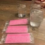 和 dining 清乃 - ピンクのかわいいおてふき
