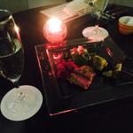 Dining & Bar LAVAROCK - 前菜と乾杯スパークリングワイン