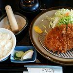 とんかつ芳松 - 味噌汁は蓋付きで登場。