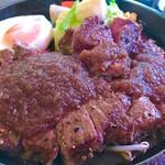 SPOON - ステーキランチ  鉄板ロースステーキとグリル野菜